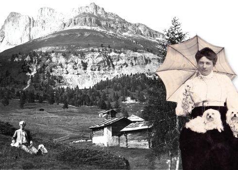 Picture mashup: Klara May and Karl May in Tirol, Austria