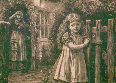 """Illustration of Karl May's first colporteur novel: """"Waldröschen oder die Rächerjagd rund um die Erde"""""""