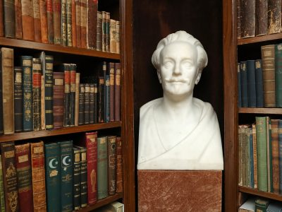 Bust of Karl May in the library