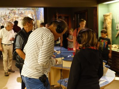 "Visitors in the exhibition ""North American Indians"""