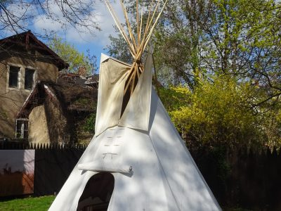 Teepee in the museum park