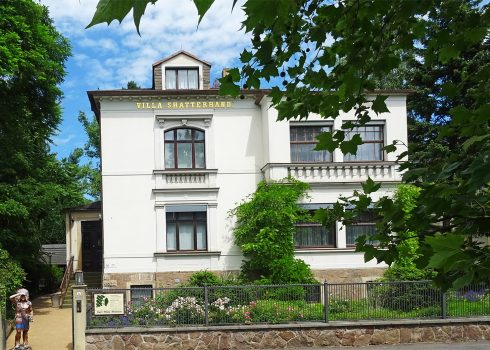 "Villa Shatterhand in the summer, Karl May's former home contains the exhibition ""Karl May – Life & Works"""