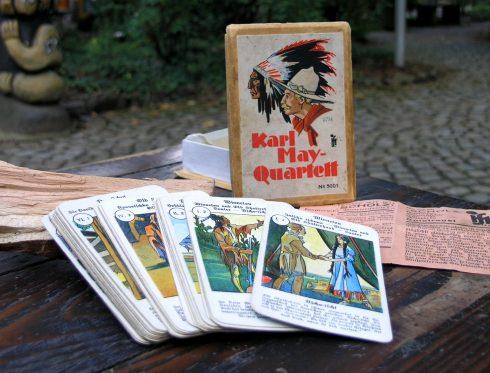 """Sonderausstellung """"Yakari, Winnetou & Co. - Indianerbegeiterung gestern und heute"""", Spielkarten """"Karl-May-Quartett"""""""